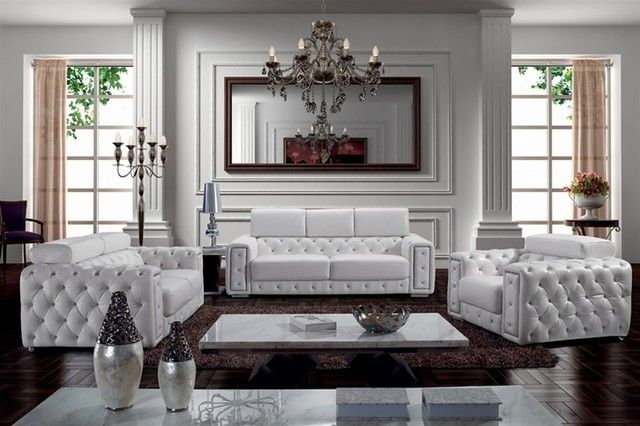 Superieur 21 Living Room Tufted Leather Sofa Designs
