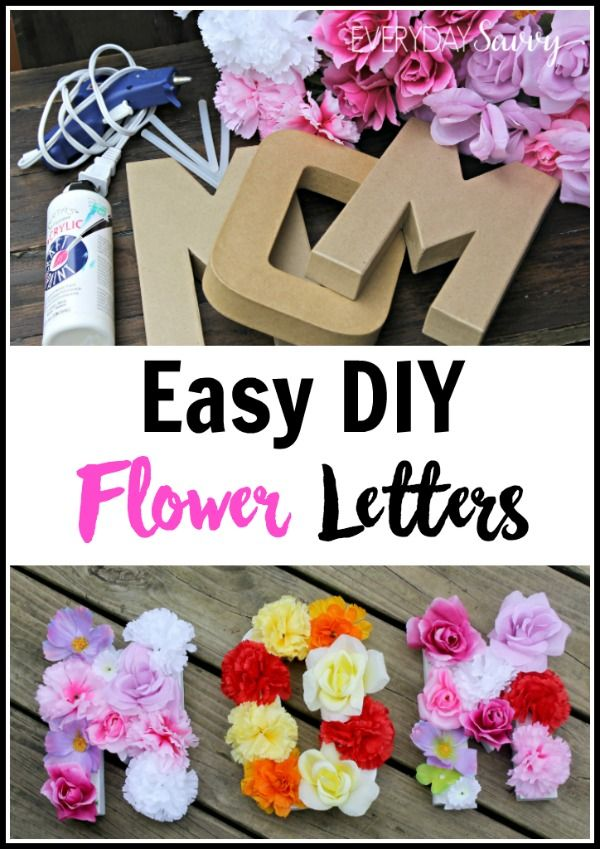This easy DIY flower letter is a fun craft you can do with your older kids as DIY gift for mom, to celebrate spring, for a birthday or many other occasions. Spell out a word, name, initial, or monogram. Includes tutorial