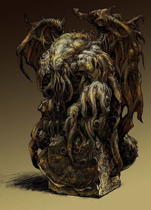 I Want This On My Nightstand Statue Of Cthulhu By Shiro