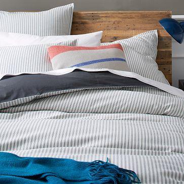 Ticking Stripe Duvet Cover Shams Striped Duvet Covers Striped Duvet Gray Duvet Cover