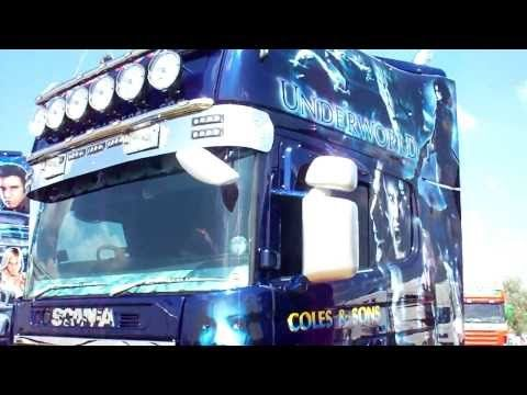 scania custom paint truck - YouTube
