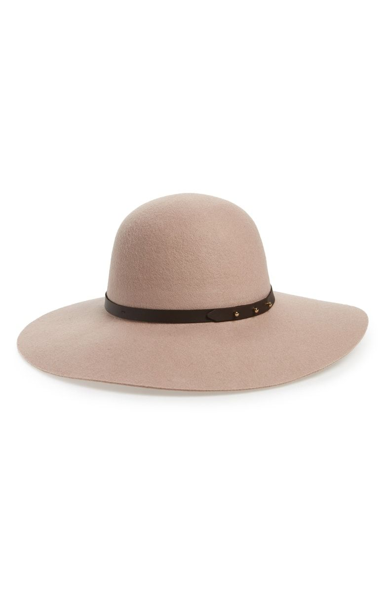 be277510953 Refined Wide Brim Wool Floppy Hat