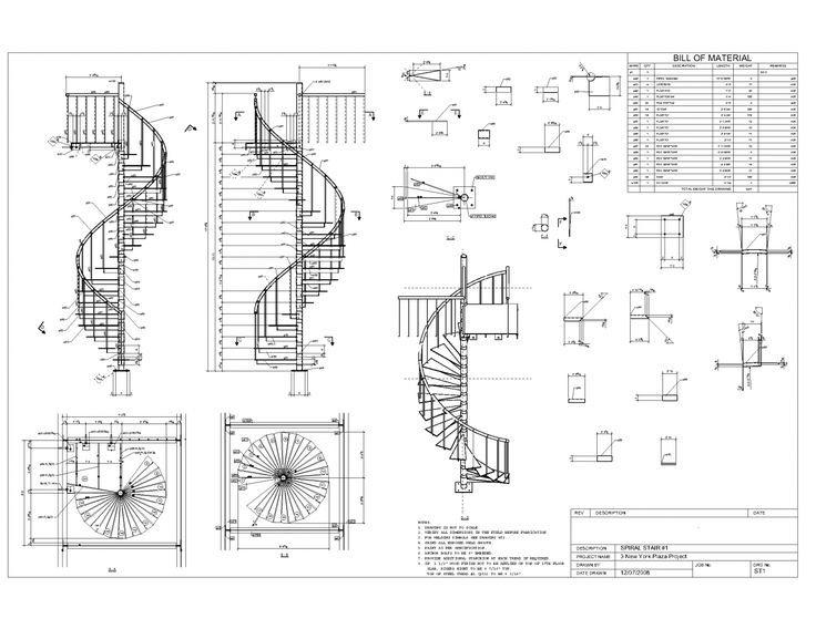 Spiral Stair 1 Spiral Staircase Plan Circular Stairs Spiral Stairs Design