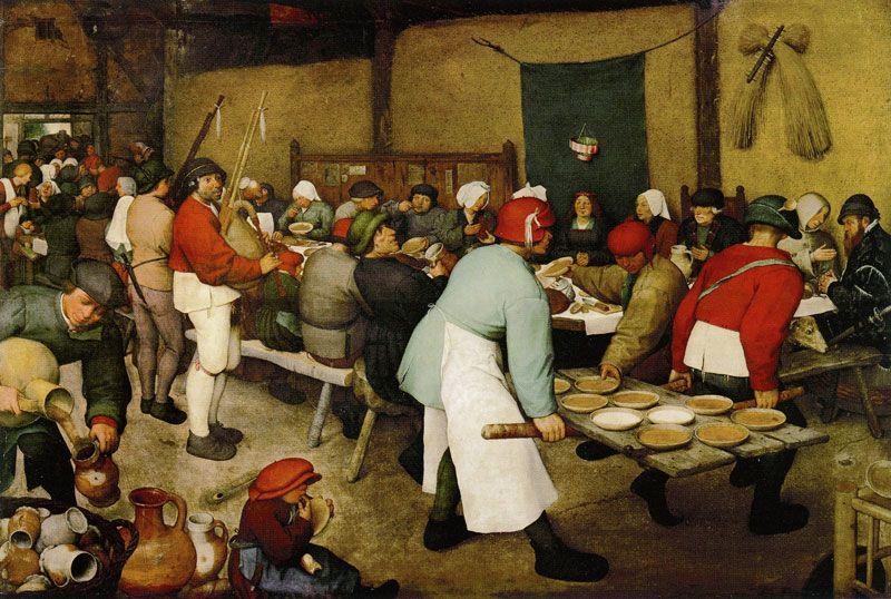 The Peasant Wedding, 1567, Pieter Bruegel the Elder