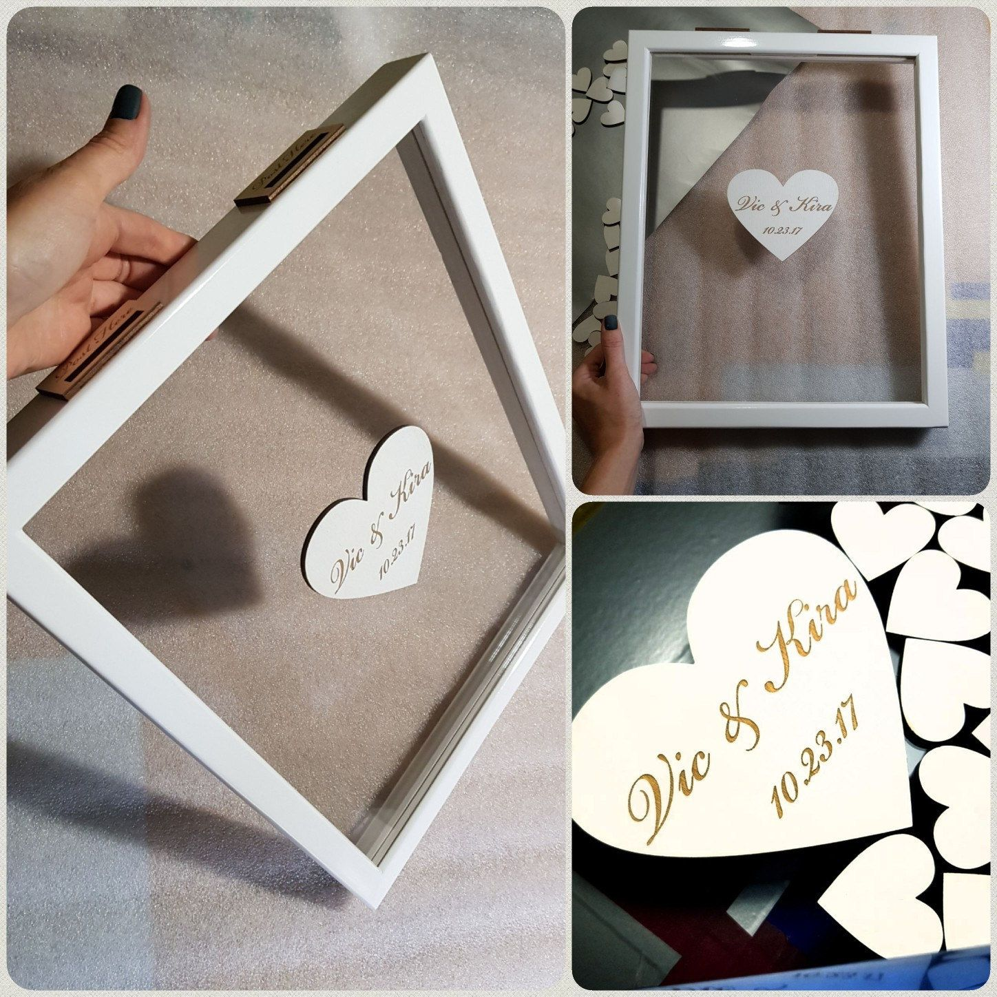 wedding guest book alternative guest book personalized drop
