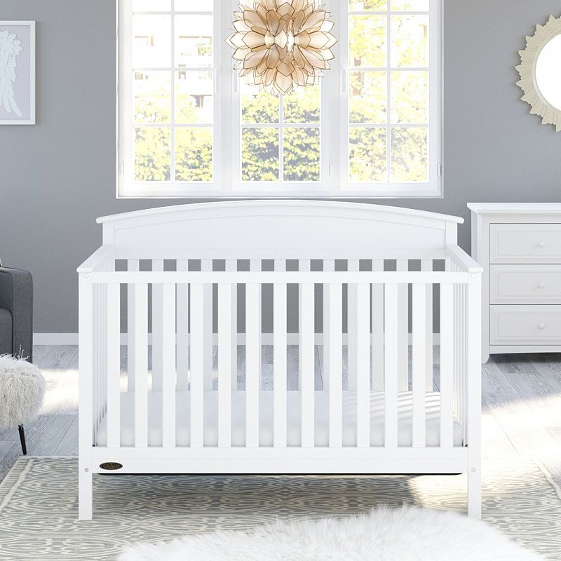 Graco Benton Convertible Crib- White | White baby cribs ...