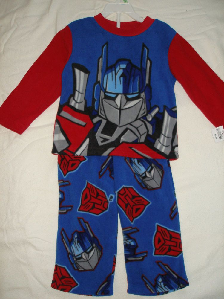 NWT Boys TRANSFORMERS Flame Resistant Pajamas Size 4 Ret $29.99.  Boys will love these P.J.'s.