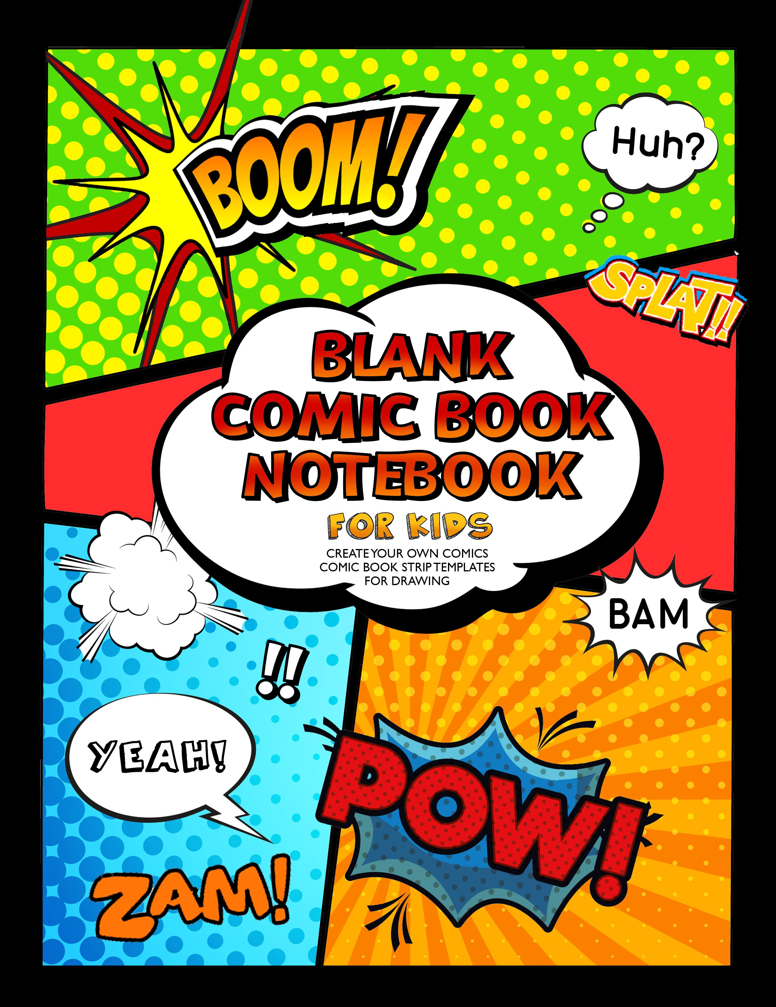 Blank Comic Book Notebook For Kids Selah Works
