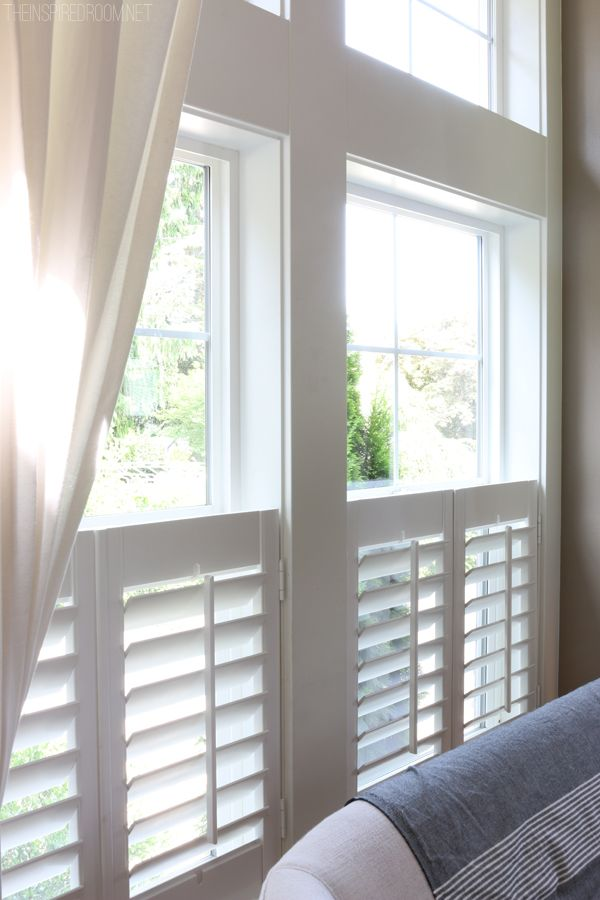 Beautiful Plantation Shutters   The Inspired Room Blog