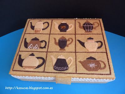 Caja de té de fieltro.