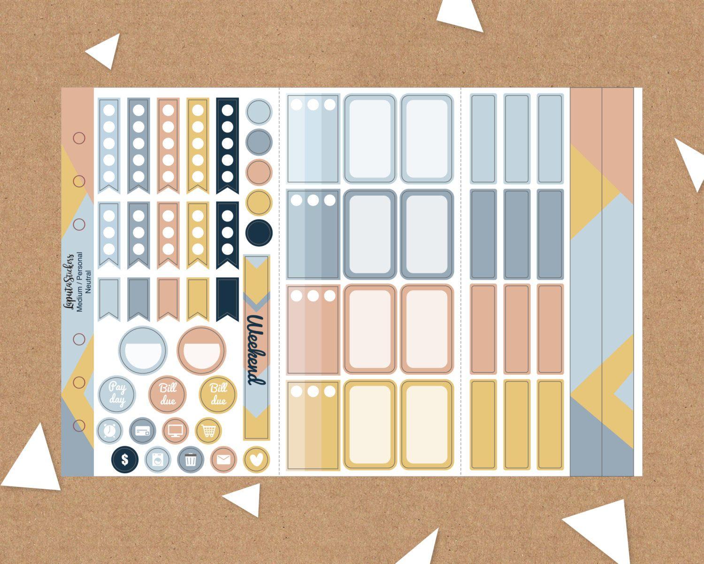 tri fold essential planner sticker insert for kikki k medium filofax