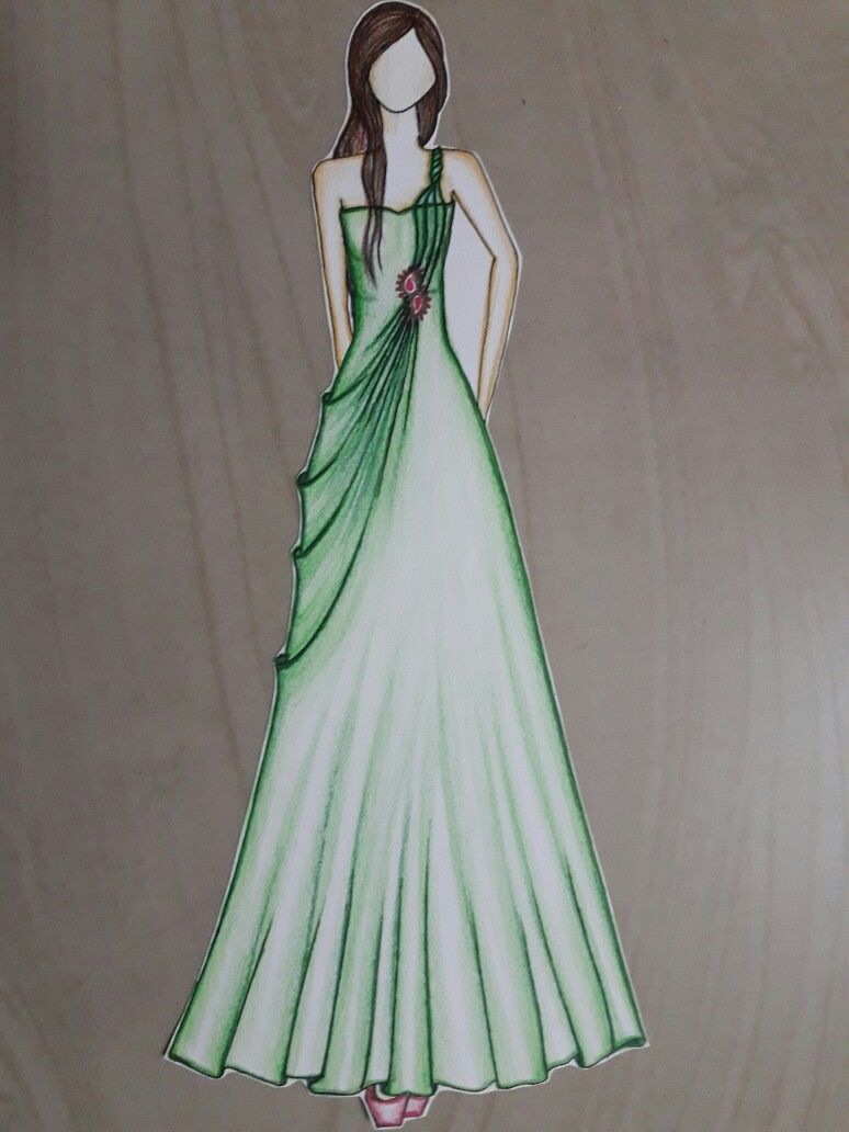 Buy Party Wear Dress Illustration Cheap Online