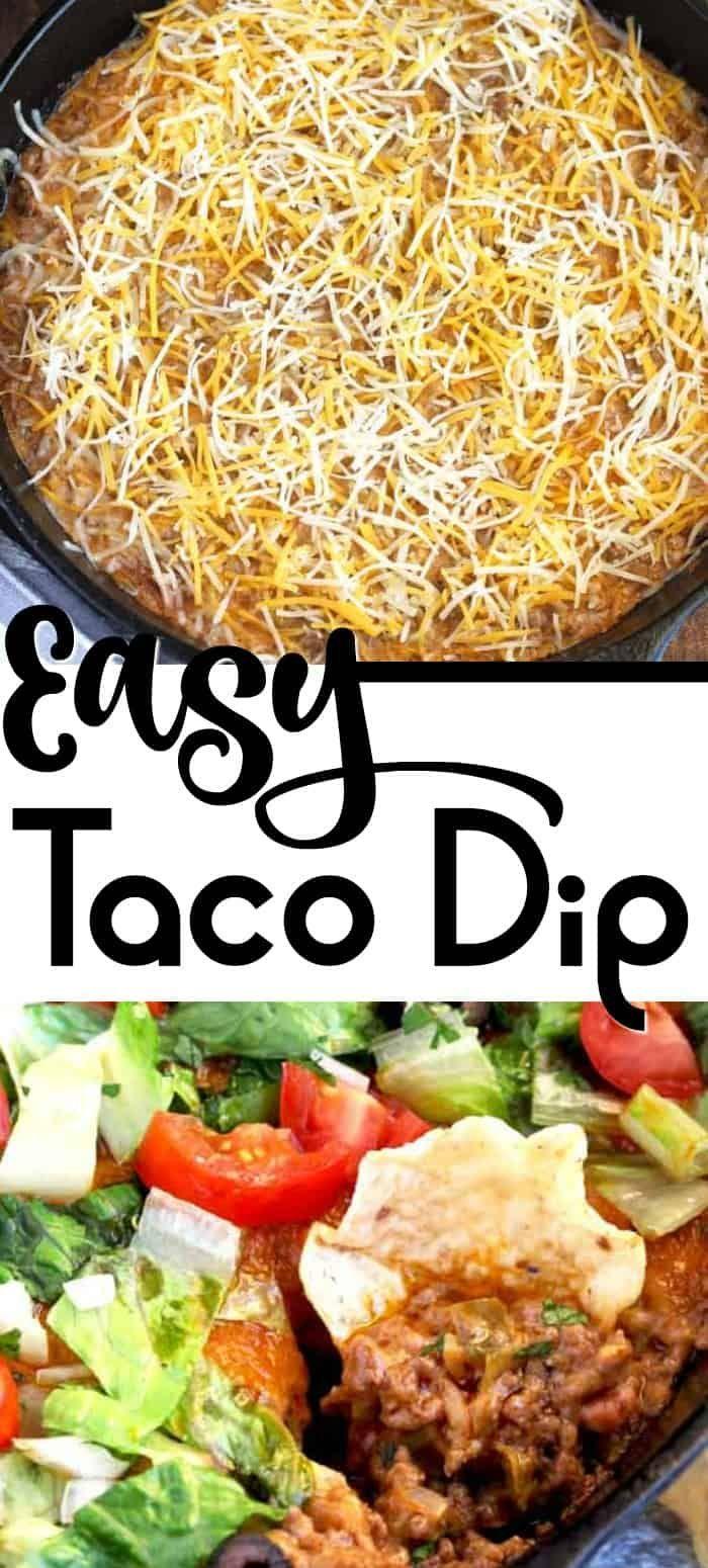Warm and Cheesy Taco Dip {Easy!}