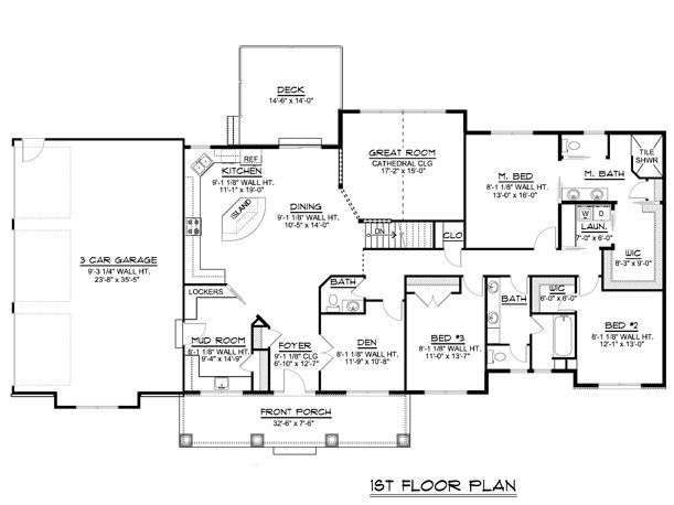 Custom Home House Plan 2 470 Sf Ranch W Basement 3 Car Garage Blueprint 1324 Ranch Style House Plans Garage Blueprints House Plans