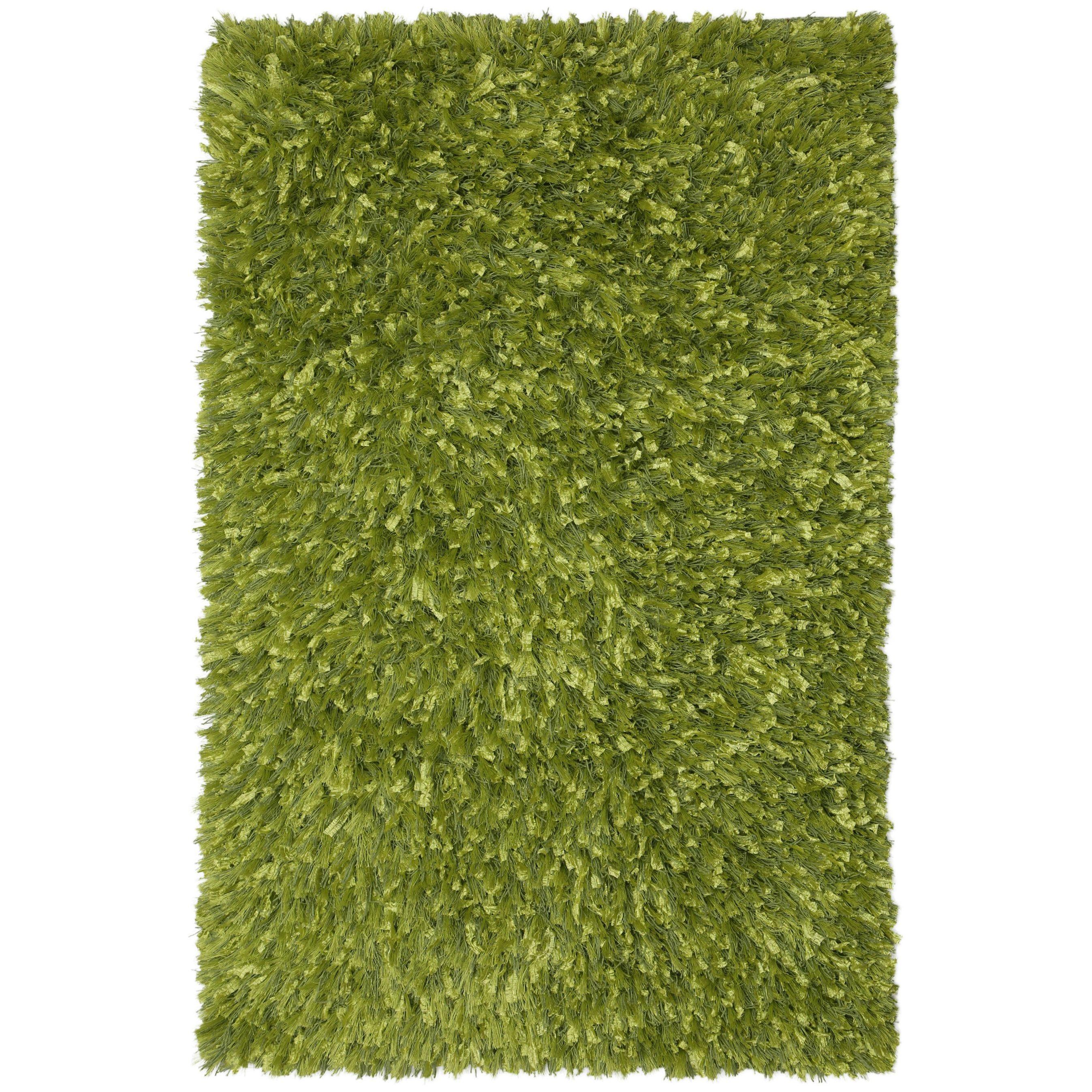 "Green Shimmer Shag Rug (21 x 34-inch) (Green Shimmer Shag (21""x34"") Rug), Size 2' x 3' (Cotton, Abstract)"
