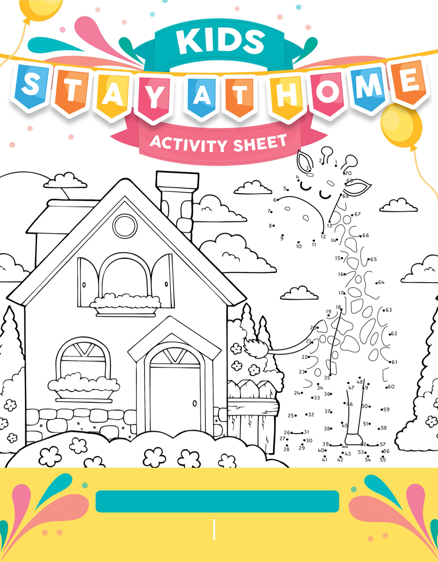 Kids Stay At Home Activity Sheet Breakthrough Broker Activity Sheets Activities Kids Learning Activities