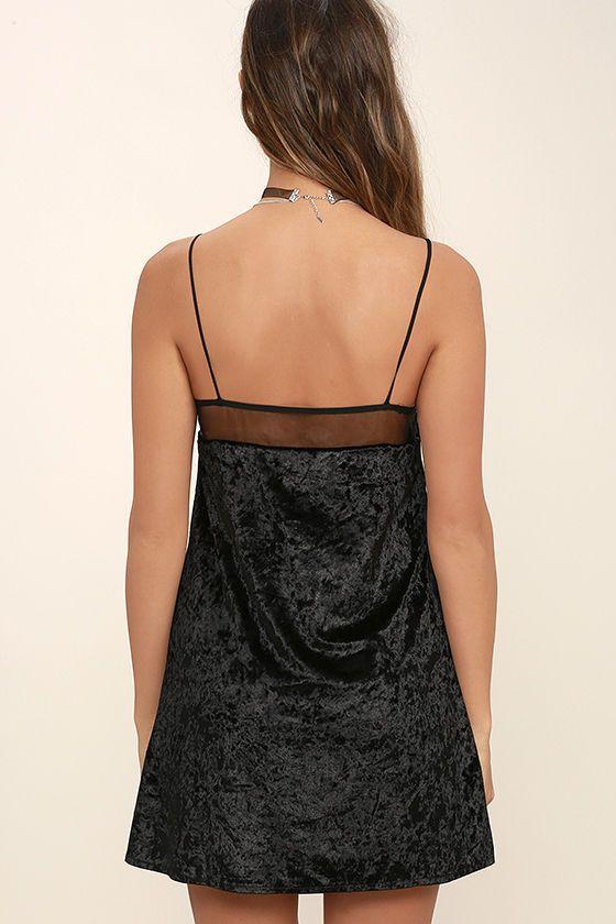 02daf6936e0 Sexy Black Dress - Slip Dress - Velvet Dress - Velvet Slip Dress - LBD -   48.00