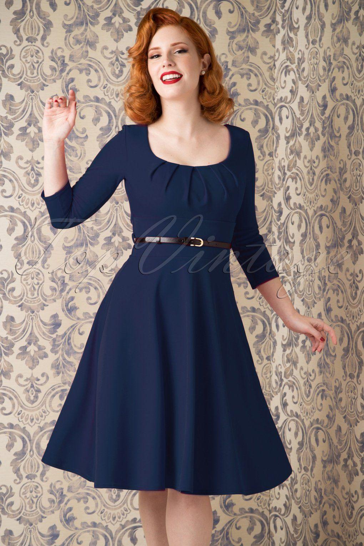 50s Marcella Swing Dress in Navy   Elegant dresses, Swings and Elegant
