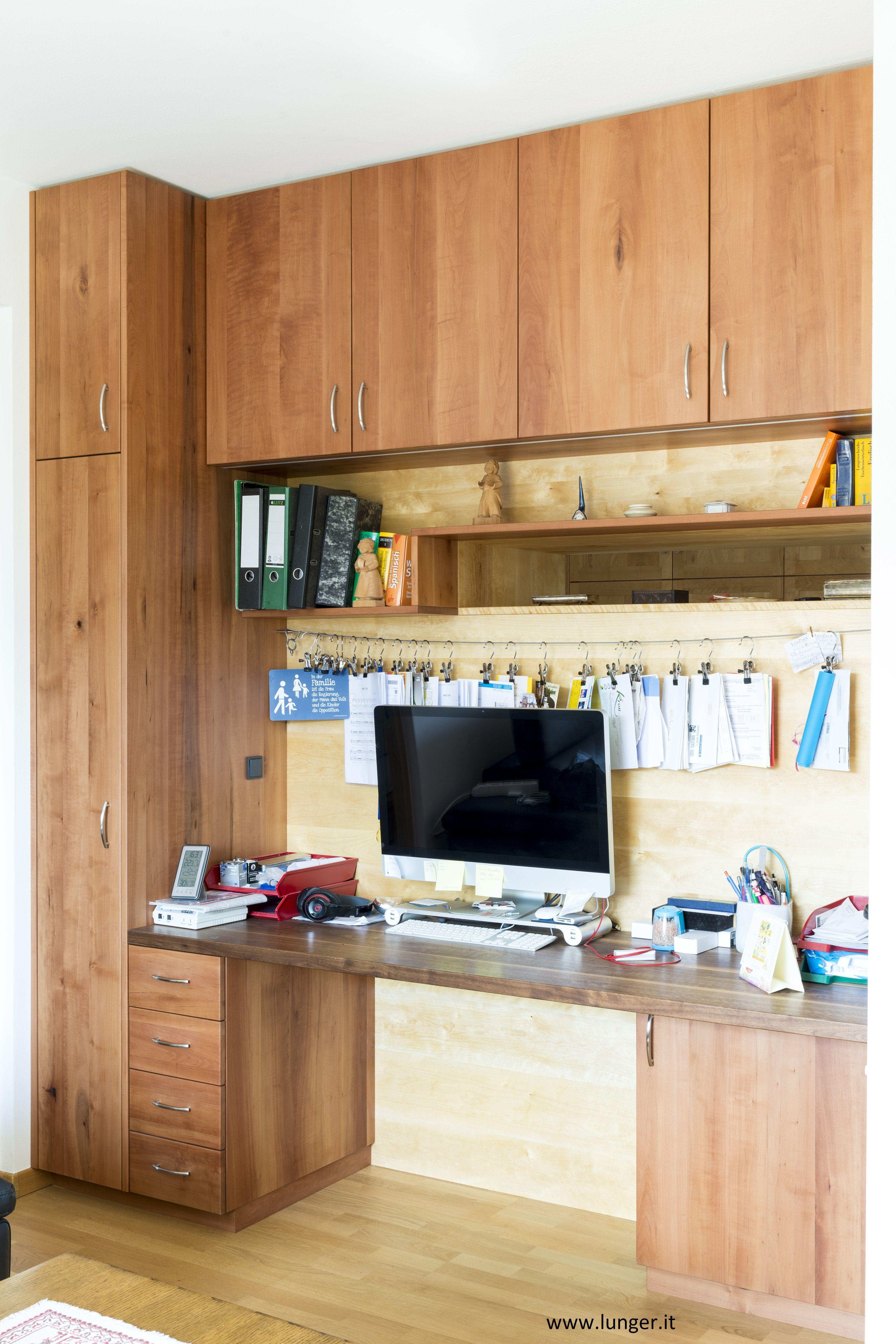 Schreibtischnische In Elsbeere Birne Massiv Tischlerei