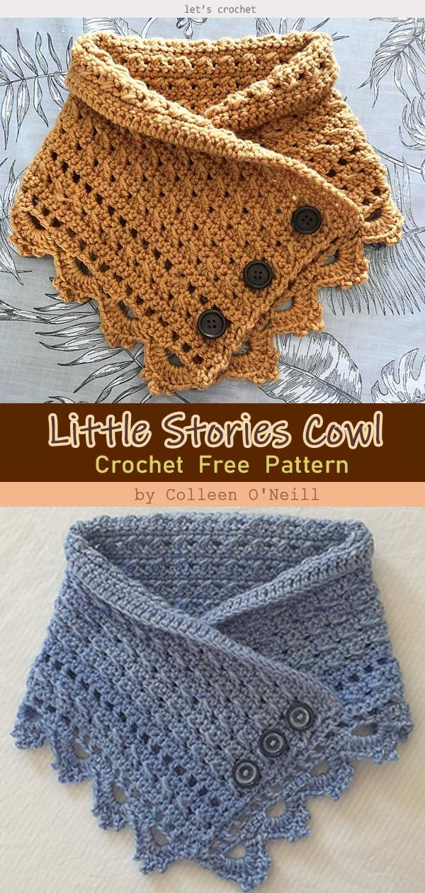 The MALIA Buttoned Cowl Crochet Free Pattern
