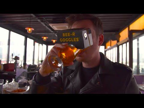 BEE-R Goggles, a virtual reality headset (attached to your beer) designed specially for beer lovers the world over to get immersed in their favourite beverage like never before