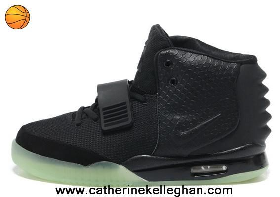 2014 Black Men Shoes Nike Air Yeezy II Outlet
