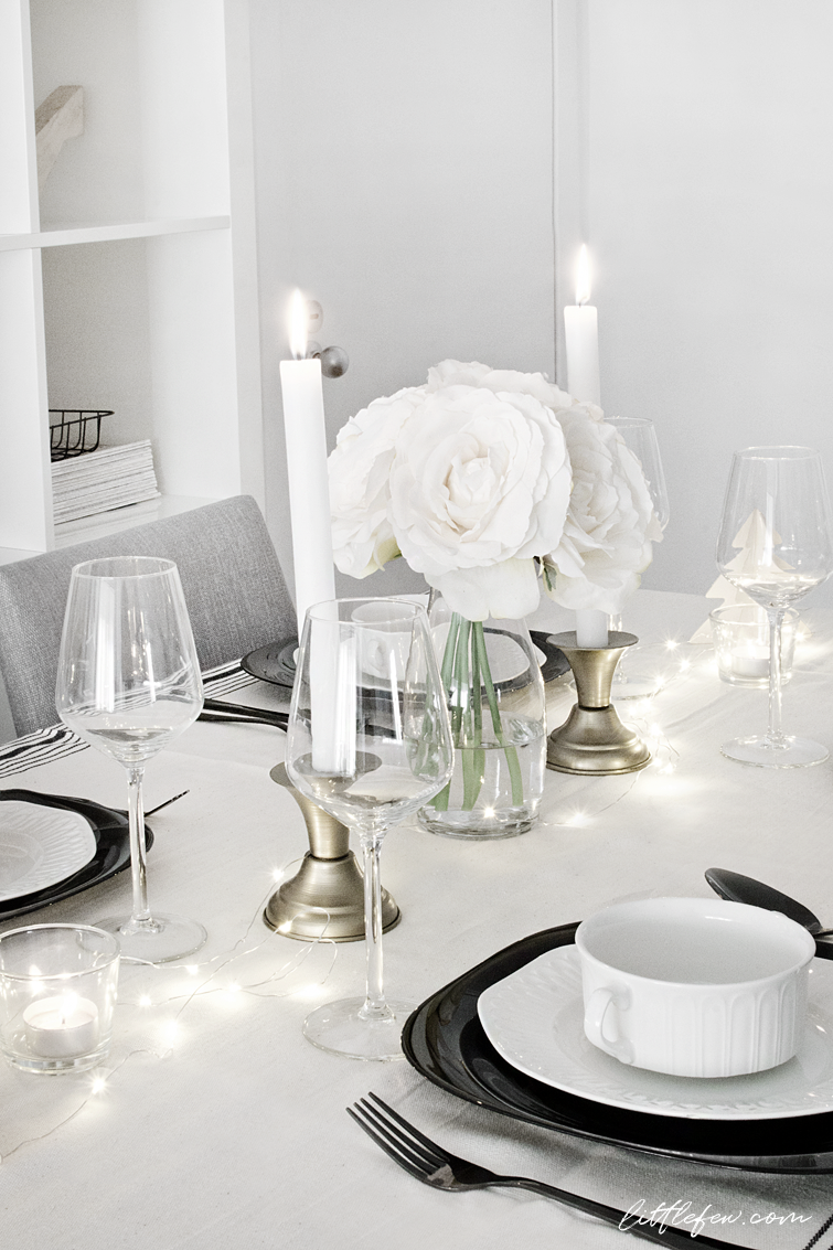 My Christmas table-setting (two options) / Littlefew.com Christmas decoration black and white table-setting nordic style nordic decoration white table ... & My Christmas table-setting (two options) / Littlefew.com Christmas ...