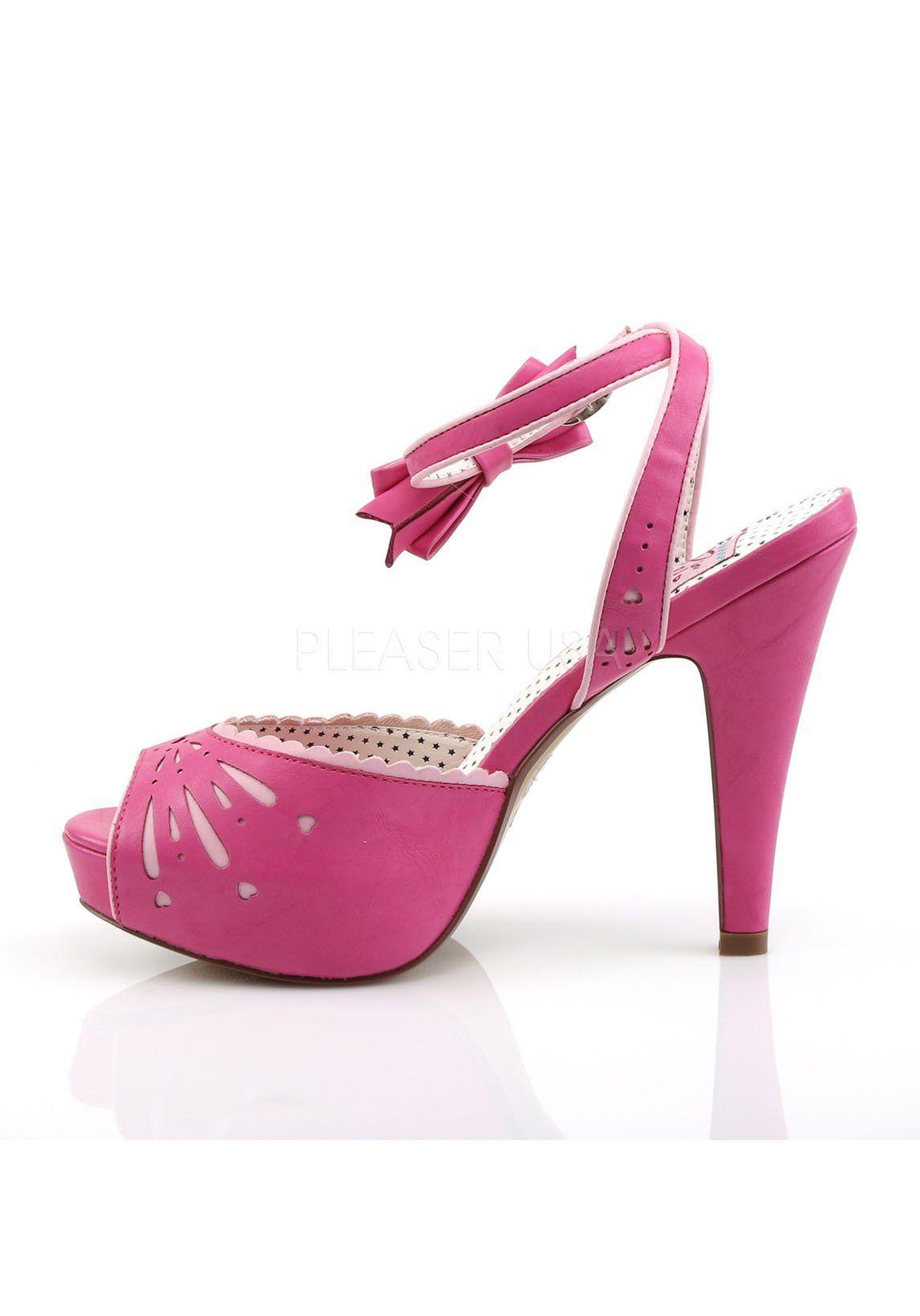 76df19892b8 Pin Up Couture Womens Bett01 Hppu Platform Sandal H. Pink Faux Leather 7 M