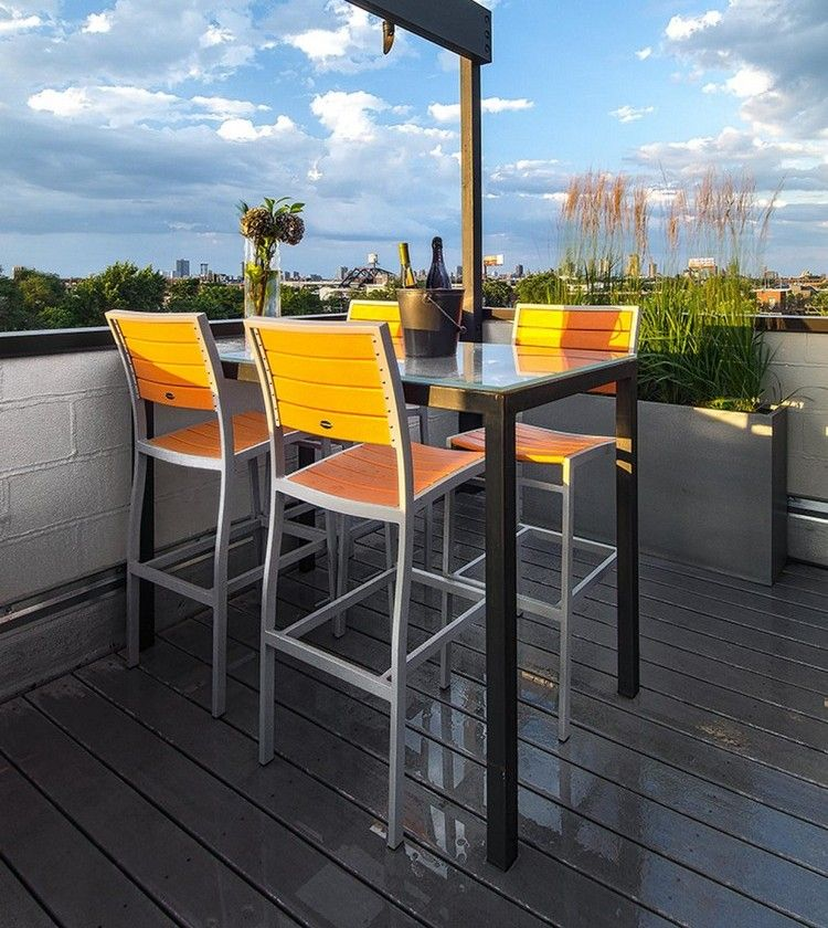 Seating area in the garden - 75 dining places outdoors Terraces