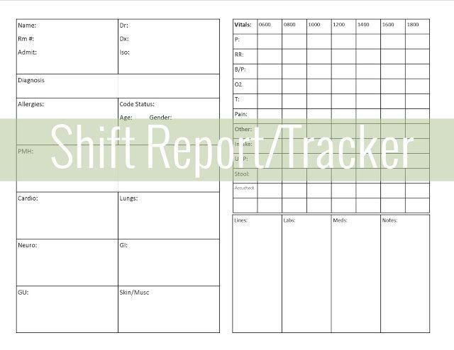 Get Organized ShiftReport Tracker  Nursey Stuff