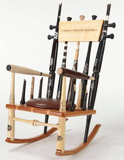 Perfect Original Custom Made Genuine Baseball Bat Rocking Chairs | Supple Rockers |  Taylor | Pinterest | Baseball Bats, Rocking Chairs And Rockers