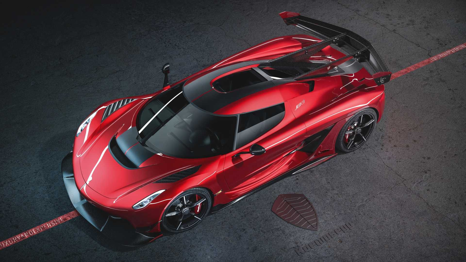 Koenigsegg Jesko Red Cherry Edition Is A Gorgeous One Off Koenigsegg Super Cars Sports Cars