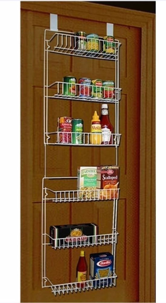Kitchen Pantry Over The Door Closet Storage Organizer Basket Rack