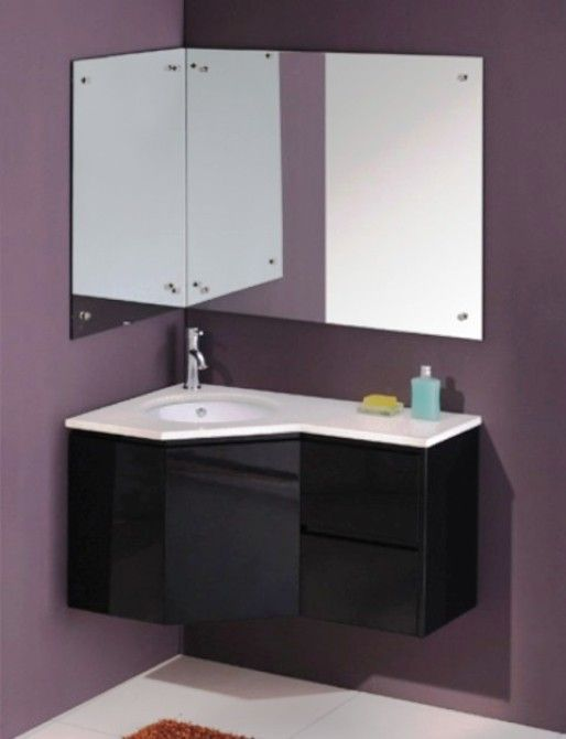 modern corner bathroom vanity - Google Search | Floating ...
