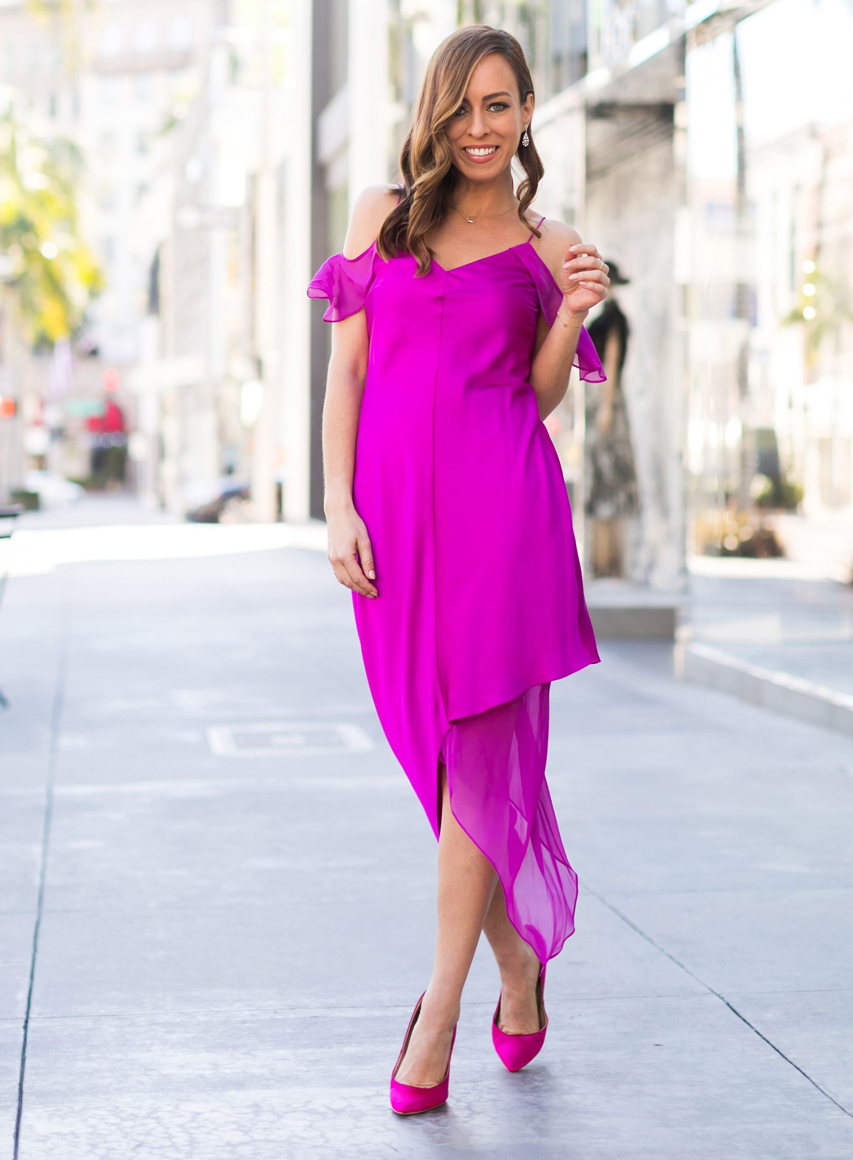 53d44e71c57a Sydne Style shows holiday party dress ideas in bright colors on sale at  saks off fifth
