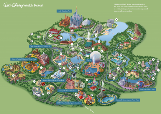 Printable Map Of Disney World Printable Walt Disney World Park Maps | Disney | Disney world map