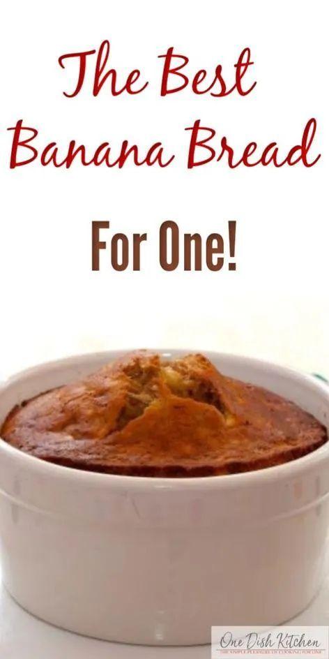 Banana Bread Recipe | Single Serving | One Dish Kitchen