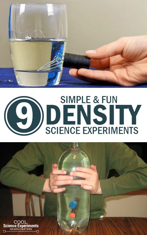 8 Simple Experiments To Learn About Density Cool Science Experiments Fun Science Earth Science Experiments