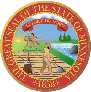 the official state seal of minnesotta which also appears on the state flag contains