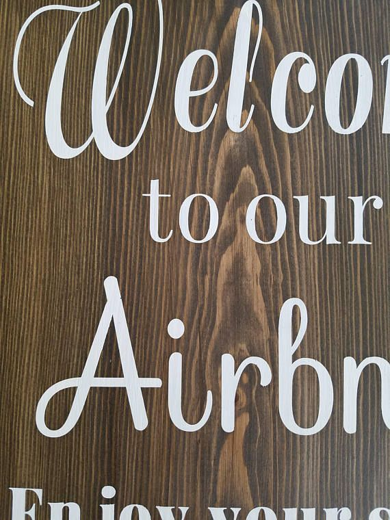Airbnb Sign  Welcome sign, vacation home signs, home signs