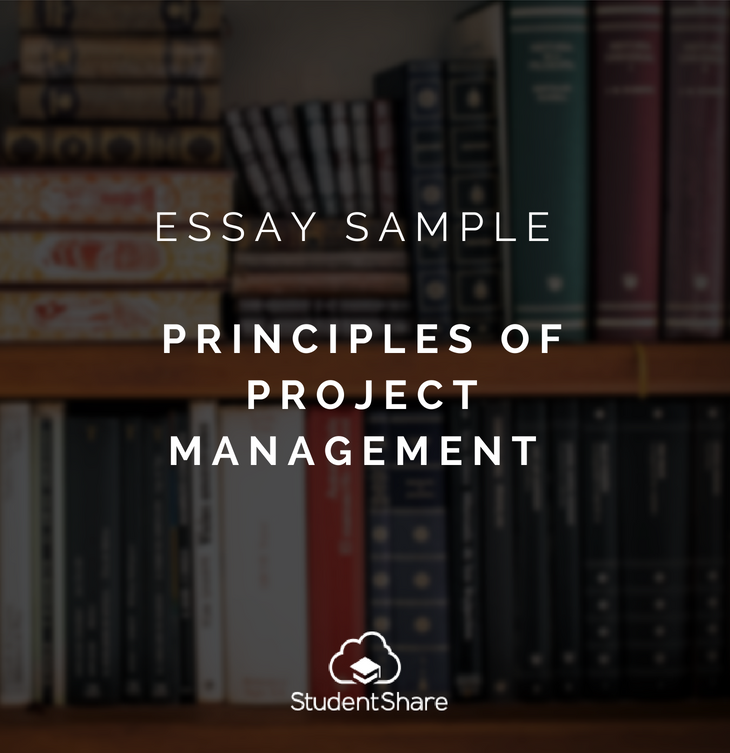Download Essay Sample Principle Of Project Management At Http Studentshare Net Example Essays