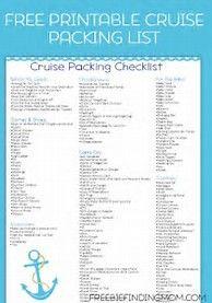image result for packing list travel checklist printable