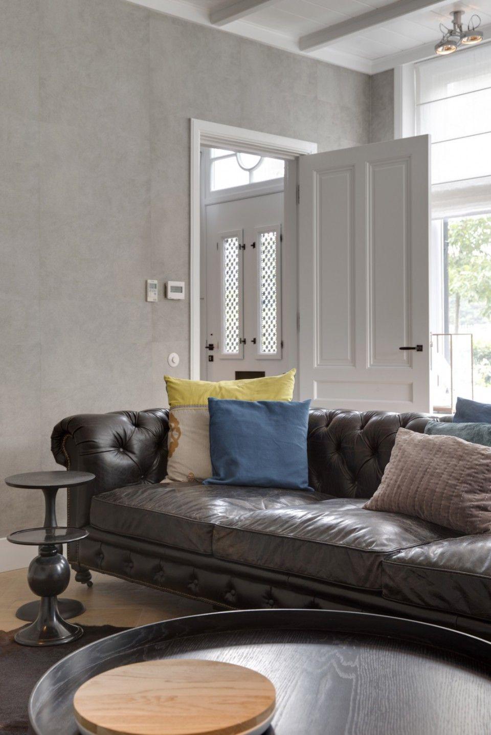 Woonkamer design met zitbank   woonkamer ideeën   living room decor ...
