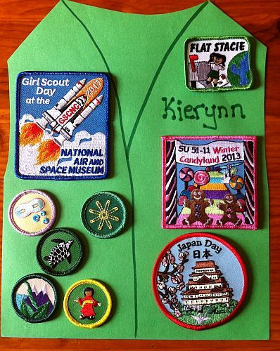Peace, love and scrappy-ness! : girl scout badge project.