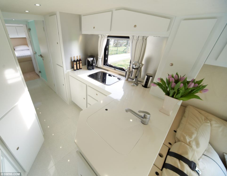 the £1.2million motorhome with a state-of-the-art kitchen, luxury