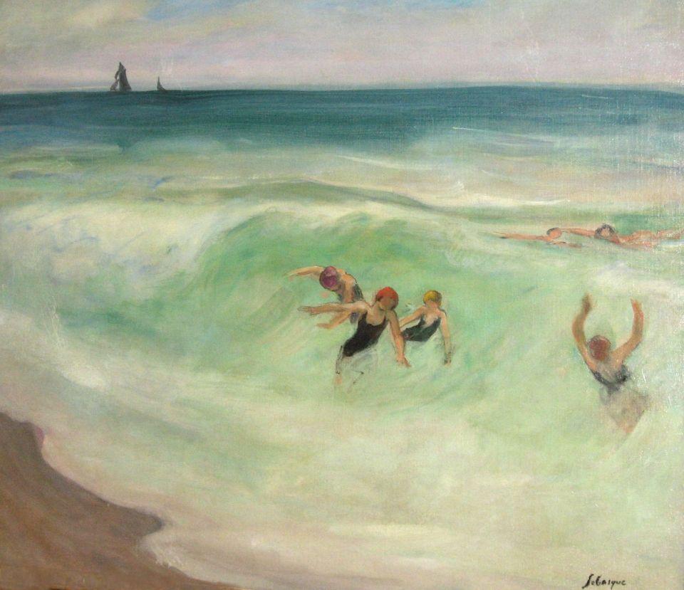 Henri Lebasque 1865 1937 La Baignade Swimming N D Brenart