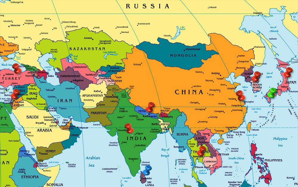 Asia Map Europe