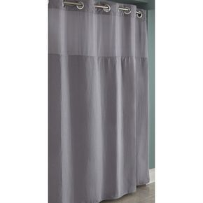 Hookless RBH82MY435 Polyester Frost Grey Diamond Pique Solid Shower Curtain