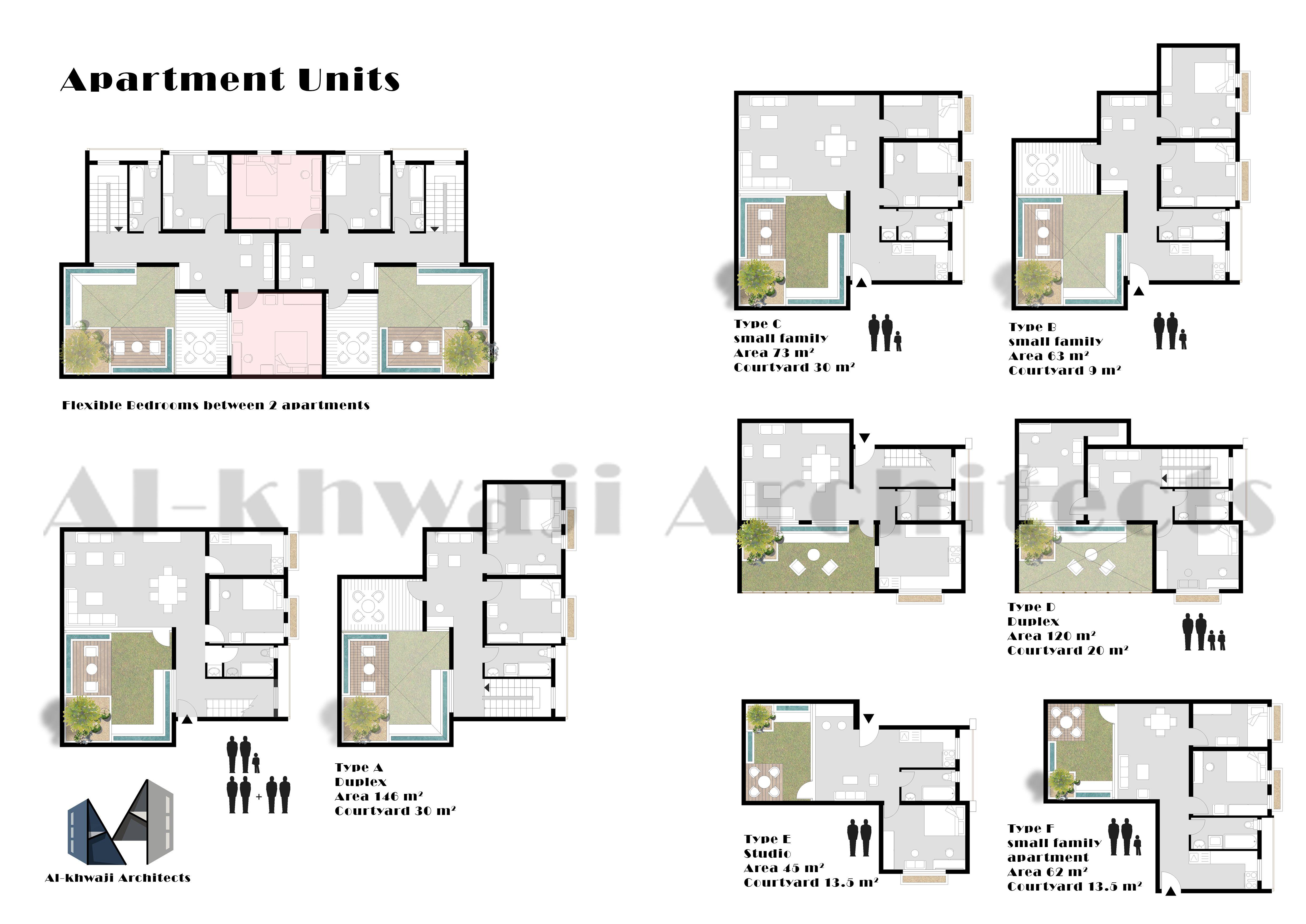 Apartment Units Floor Plan Courtyard House Floor Plans Rendered Floor Plan