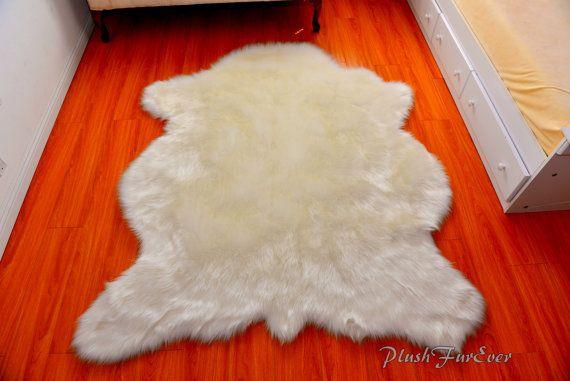Buffalo Polar Bear Shape Rug Plush Fur Luxurious By Plushfurever Girls Rugs Fur Decor